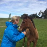 Making new friends – Omen's son Jonesy wins another heart!